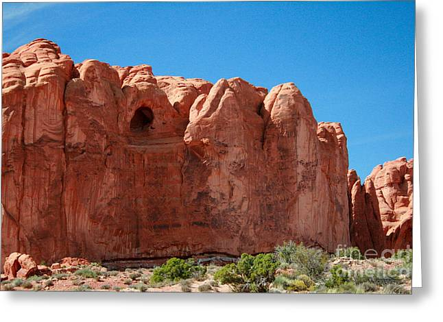 Cave Formation Arches National Park Greeting Card