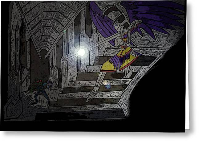 Cave Of The Dead Greeting Card by Gary Eakin