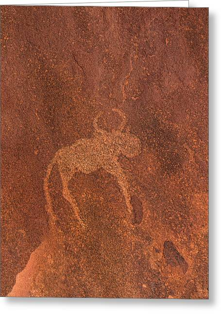 Cave Painting By Bushmen, Damaraland Greeting Card by Panoramic Images