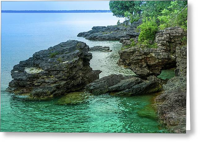 Cave Point County Park Greeting Card