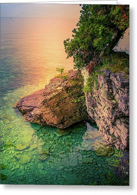 Cave Point County Park I Greeting Card