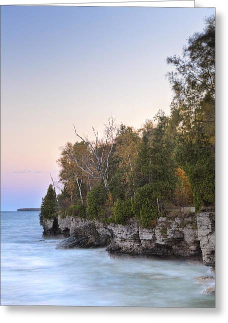 Cave Point  Greeting Card by Richard Steinberger
