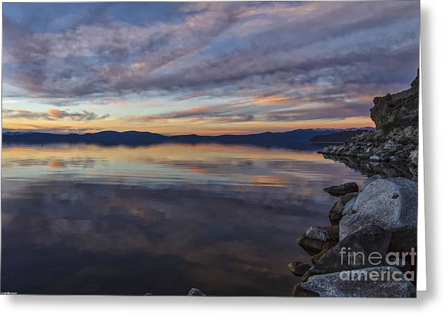 Cave Rock Sunset Greeting Card by Mitch Shindelbower