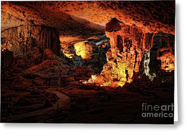 Cave Sung Slot Limestone IIi Greeting Card by Chuck Kuhn