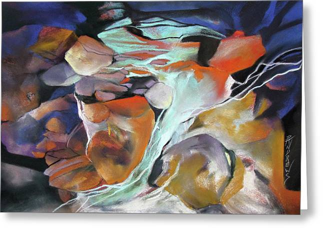 Cavernous Tumble Greeting Card by Rae Andrews