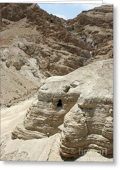 Caves Of The Dead Sea Scrolls Greeting Card