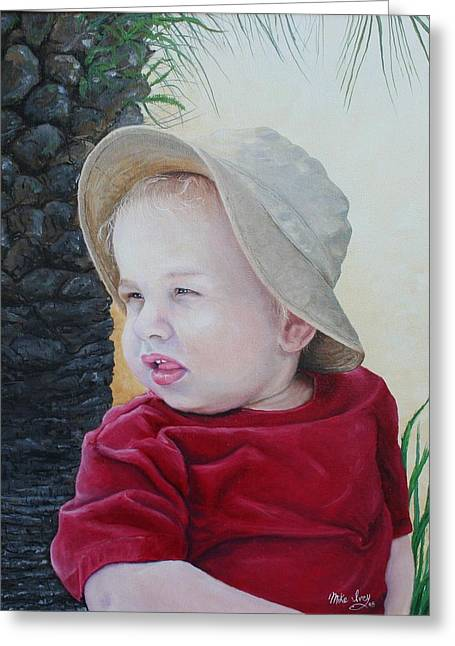Mike Ivey Greeting Cards - Cayden Greeting Card by Mike Ivey
