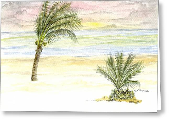 Greeting Card featuring the digital art Cayman Beach by Darren Cannell