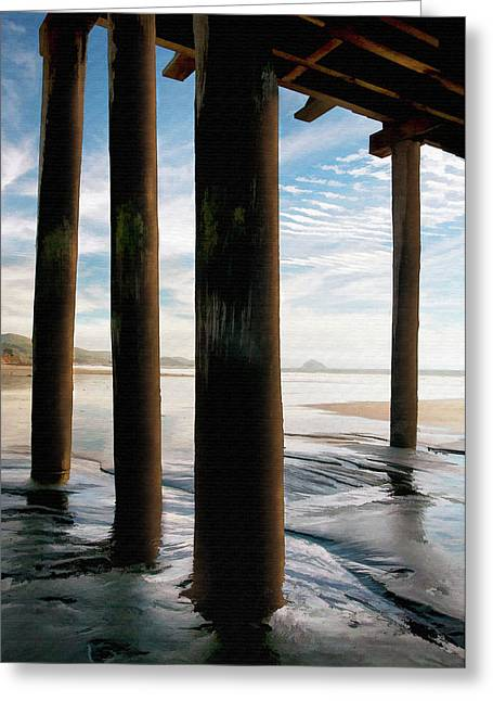 Cayucos Pier Greeting Card