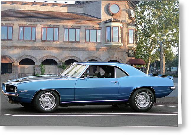 Greeting Card featuring the photograph Cbad Z28 In Blue by Bill Dutting