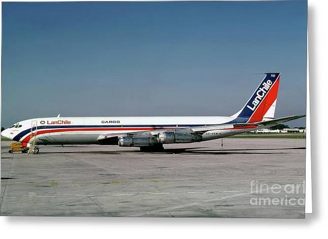 Cc-ceb, Boeing 707-385c, Lan Chile Cargo, Jt3d-3b S2, Jt3d Greeting Card