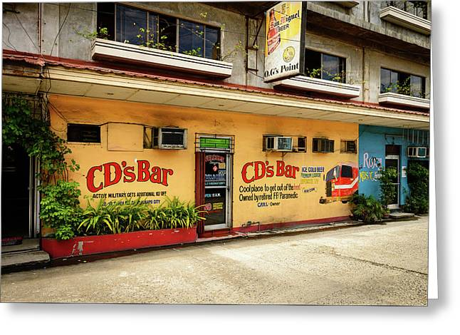Cd's Bar  Greeting Card by Michael Scott