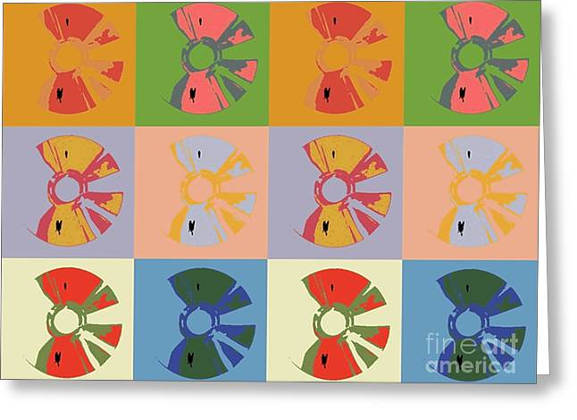 Cds Colors  Music  Greeting Card by Victor Arriaga