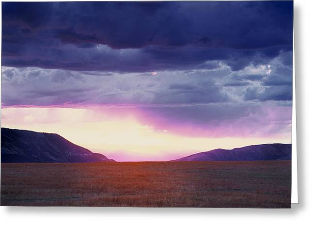 Cdt Sunset Greeting Card by Leland D Howard