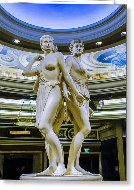 Caesars Lobby - Las Vegas Nevada Greeting Card