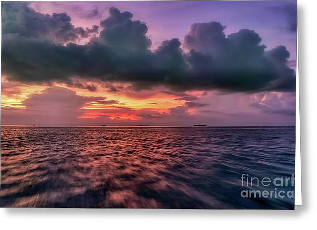 Greeting Card featuring the photograph Cebu Straits Sunset by Adrian Evans