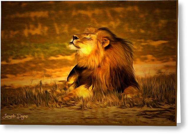 Cecil At Sun Greeting Card by Leonardo Digenio
