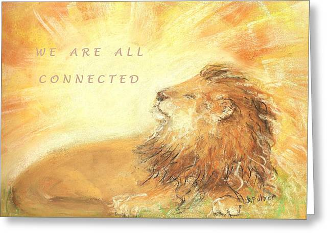 Cecil The Lion Greeting Card