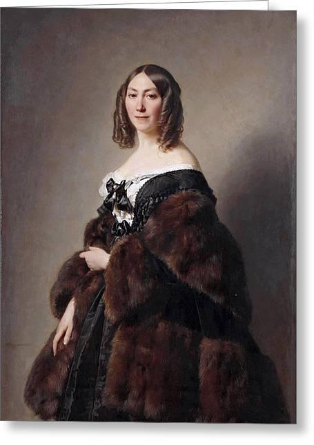 Cecile Charlotte Furtado-heine Greeting Card by Hermann Fidel Winterhalter
