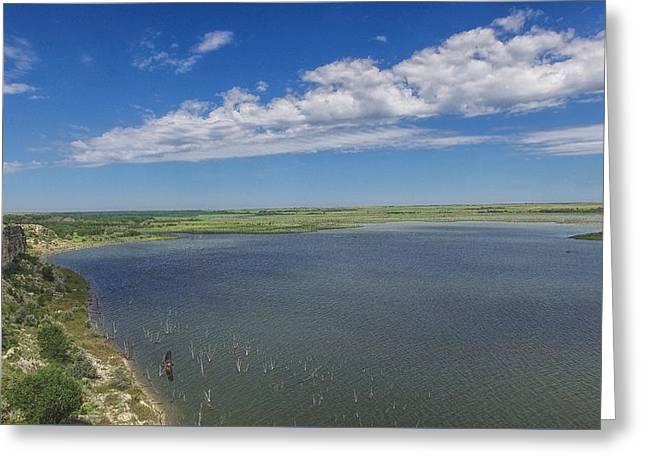 Cedar Bluff Reservoir Greeting Card