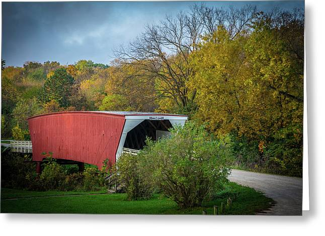 Cedar Covered Bridge Greeting Card by Randall Branham