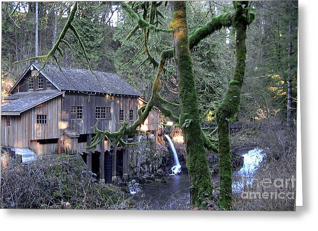 Greeting Card featuring the photograph Cedar Creek Grist Mill by Larry Keahey