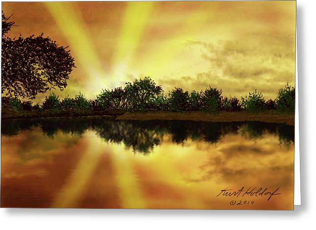 Cedar Creek Sunset Greeting Card by Kurt Holdorf