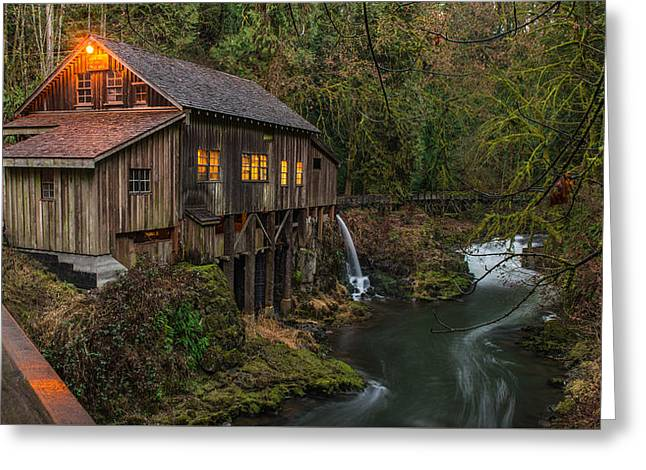 Cedar Grist Mill Greeting Card