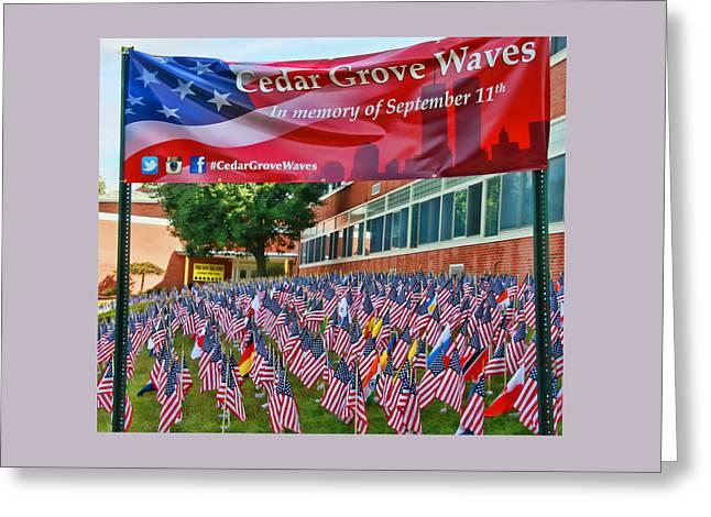 Cedar Grove Waves Greeting Card by Allen Beatty