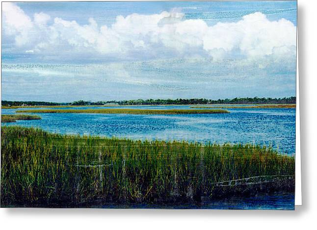 Best Sellers -  - Cedar Key Greeting Cards - Cedar Key 2 Greeting Card by Bob Senesac