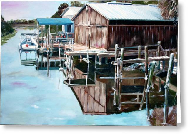 Best Sellers -  - Cedar Key Greeting Cards - Cedar Key Reflections 2 Greeting Card by Greg Morris