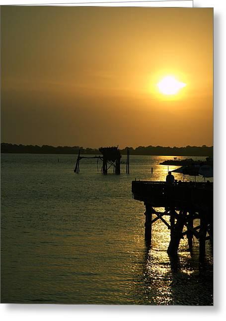 Cedar Key Sunset 4 Greeting Card by Kathi Shotwell