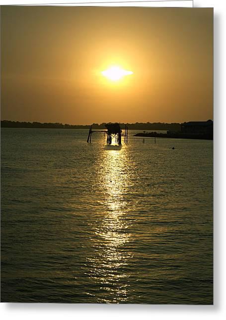 Cedar Key Sunset 5 Greeting Card
