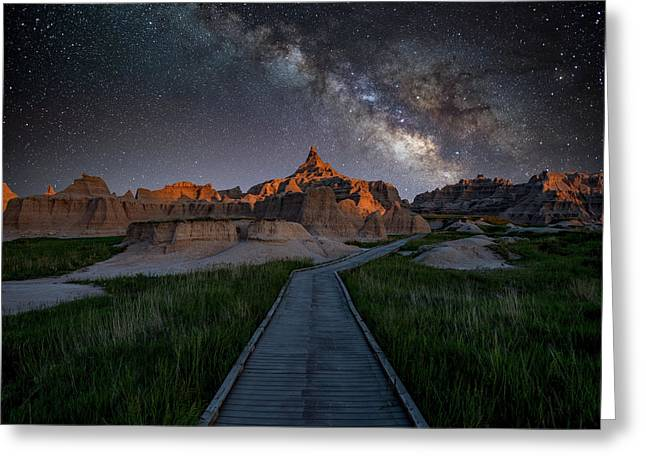 Greeting Card featuring the photograph Cedar Pass Milky Way by Darren White