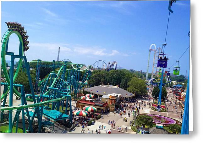 Cedar Point Amusement Park Greeting Card