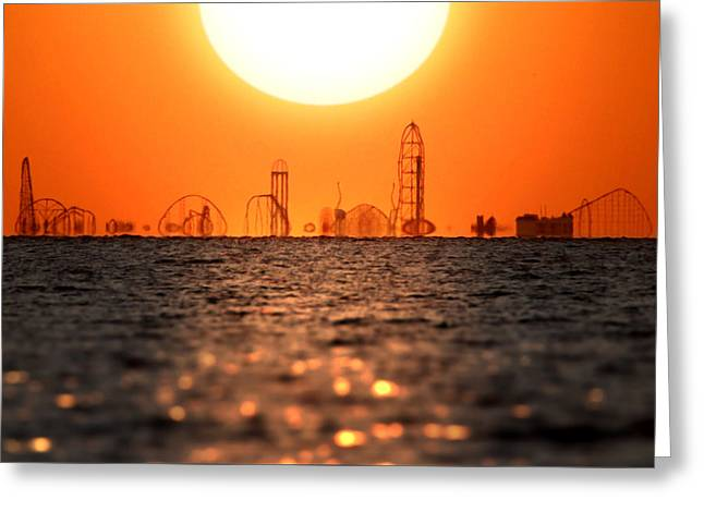 Cedar Point Skyline 2 Greeting Card