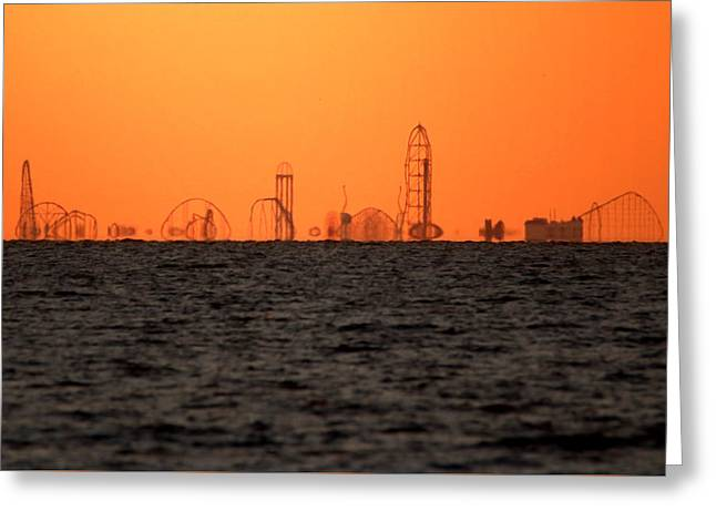 Cedar Point Skyline Greeting Card by Rob Blair