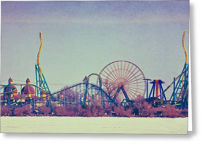 Cedar Point Skyline Greeting Card