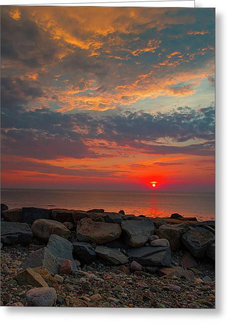 Cedar Point Sunrise Greeting Card