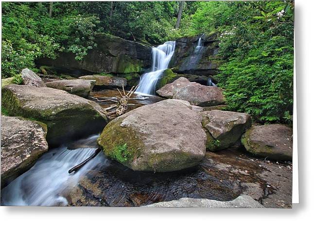 Cedar Rock Falls Greeting Card
