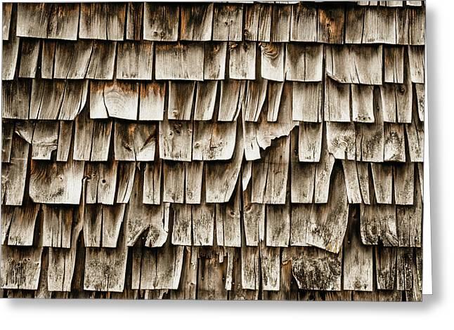 Cedar Shingles Pattern Greeting Card by Edward Fielding