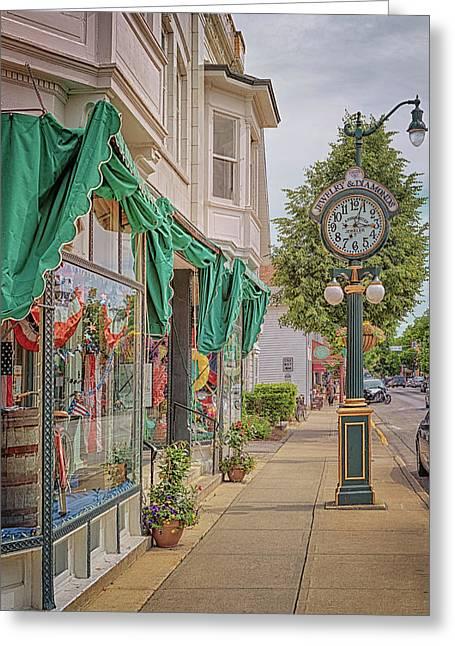 Cedarburg Street Clock Greeting Card
