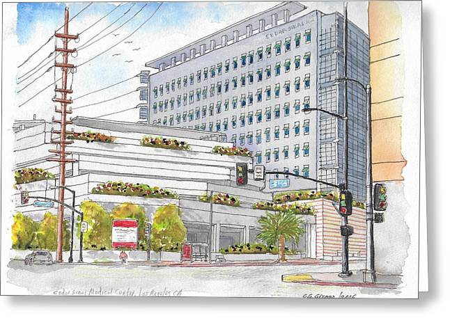 Cedars-sinai Medical Center, 3rd And San Vicente, West Hollywood, Ca Greeting Card