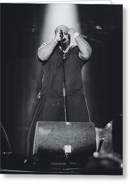 Ceelo Green Playing Live Greeting Card