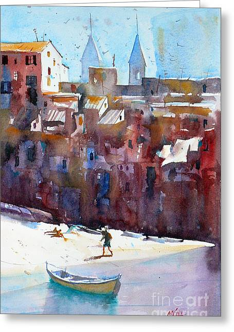 Cefalu Greeting Card by Andre MEHU
