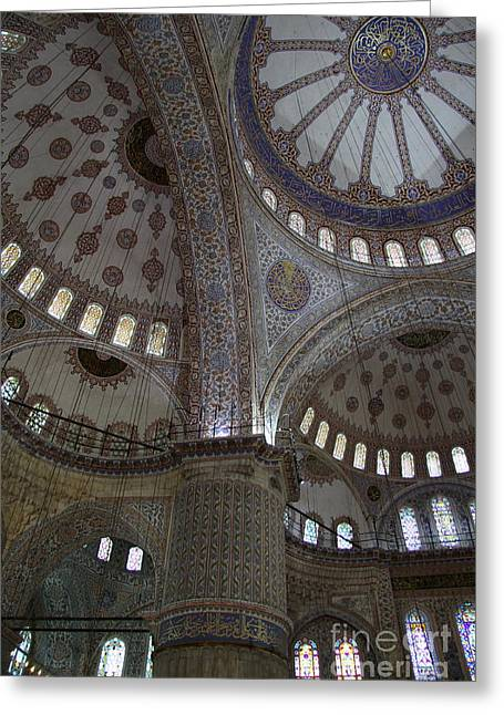 Ceiling Sultan Ahmed Mosque Istanbul Greeting Card