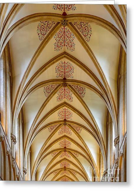 Ceiling, Wells Cathedral. Greeting Card