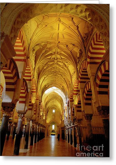 Ceilings Inside The Catedral De Cordoba Greeting Card by Sami Sarkis