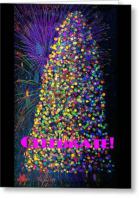 Celebrate In Lights Greeting Card by ARTography by Pamela Smale Williams