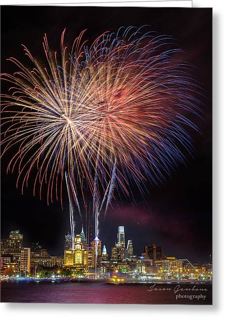 Celebrate Independence With Watermark Greeting Card by Jason Gambone